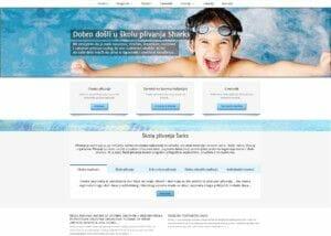 izrada sajta za skolu plivanja