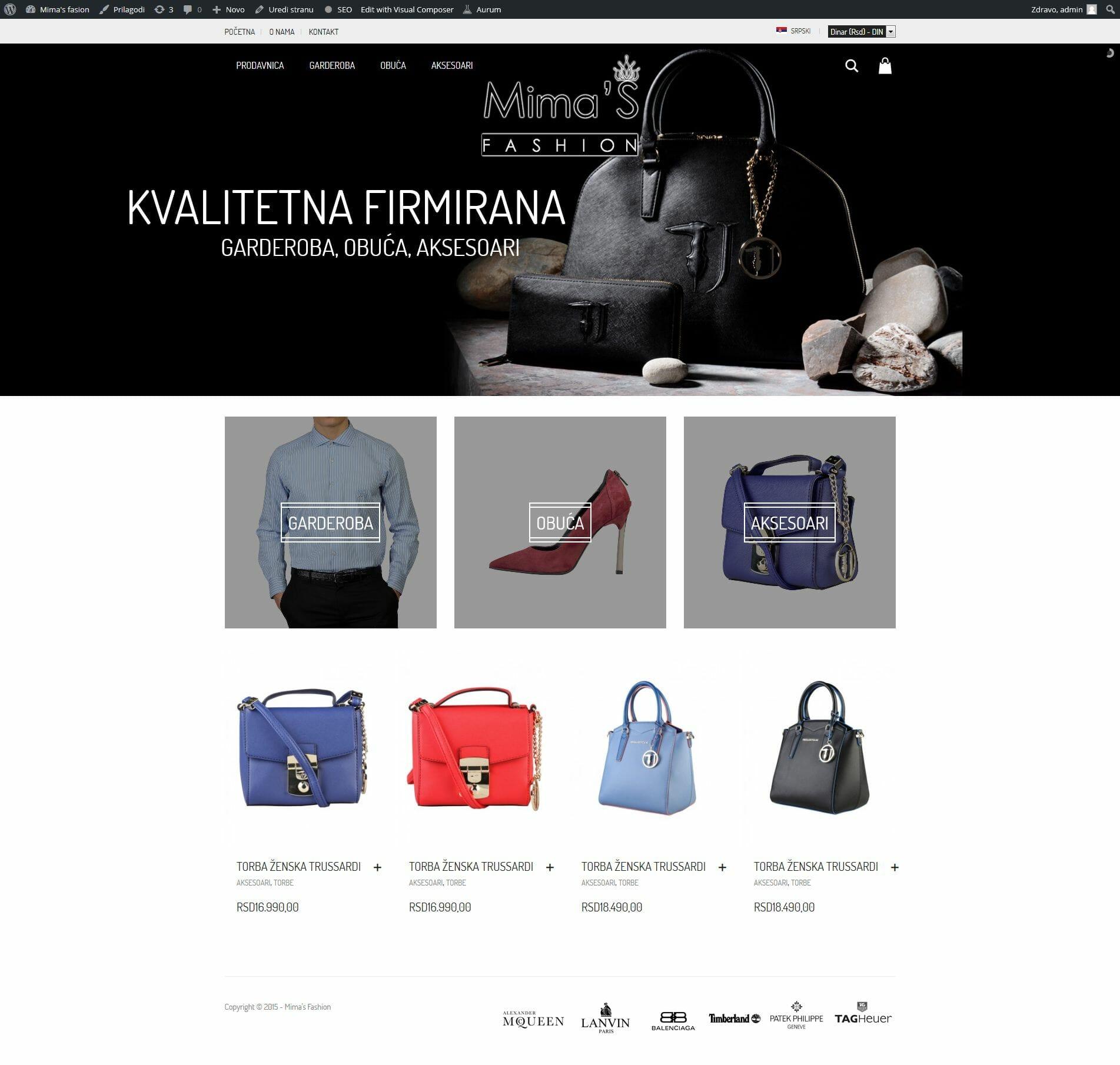 izrada online prodavnica za obucu i odecu