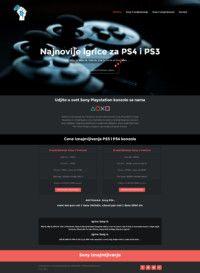 izrada sajta za iznajmljivanje sony konzola