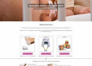 izrada online prodavnice za decju opremu