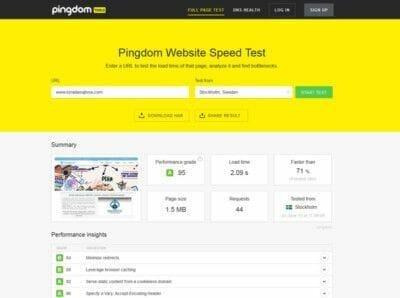 kako proveriti brzinu sajta