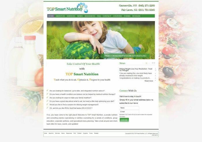 izrada sajta za nutricionistu