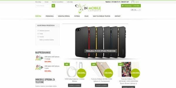 izrada sajta za online prodaju mobilnih telefona