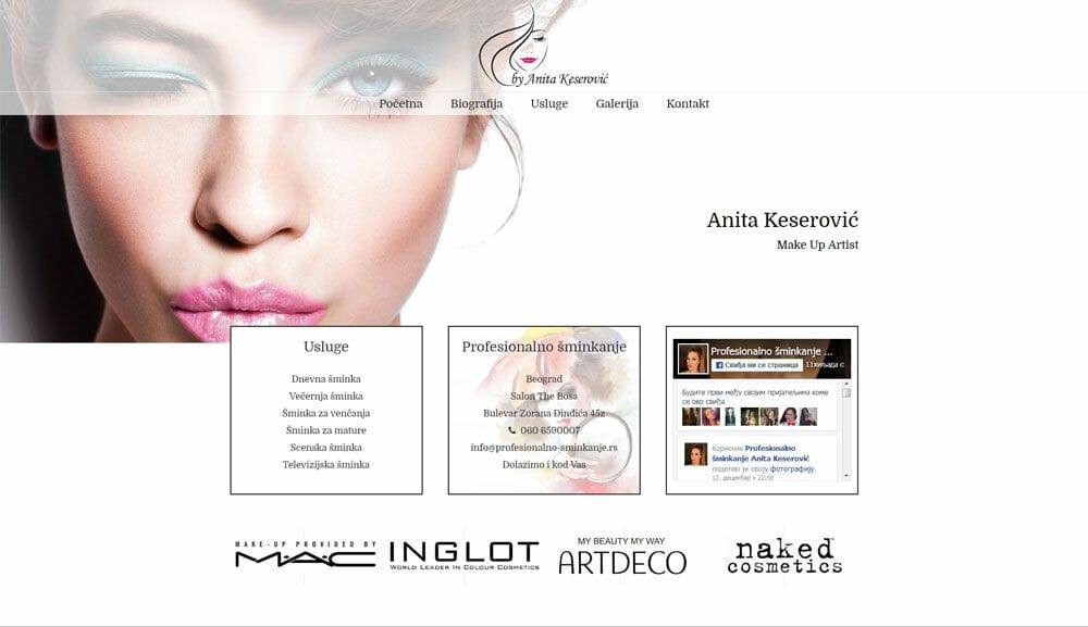 izrada sajta za kozmeticki salon
