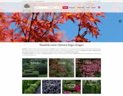 izrada sajta za online prodaju cveca i biljaka beograd