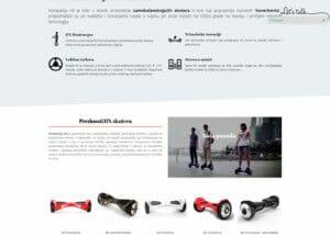 izrada sajta za online prodaju samobalansirajucih skutera