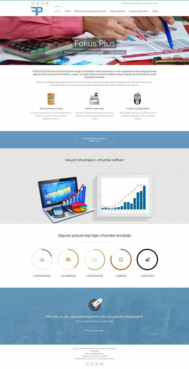 izrada sajta za knjigovodstvenu agenciju Fokus Plus