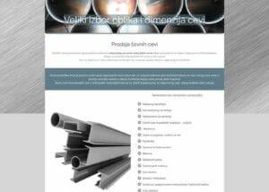 izrada sajta za veleprodaju savnih cevi steelferr