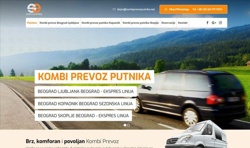 kombi prevoz putnika ljubljana slovenija