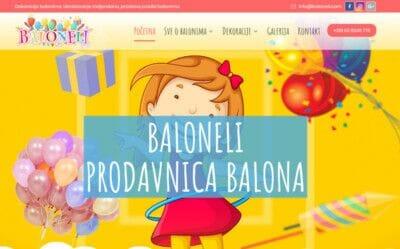 izrada sajta za dekoraciju balonima
