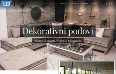 izrada sajta za dekorativne podove