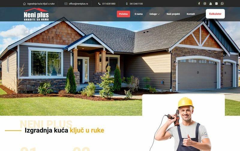 neni plus izgradnja kuca kljuc u ruke