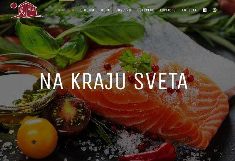 izrada sajta za restoran