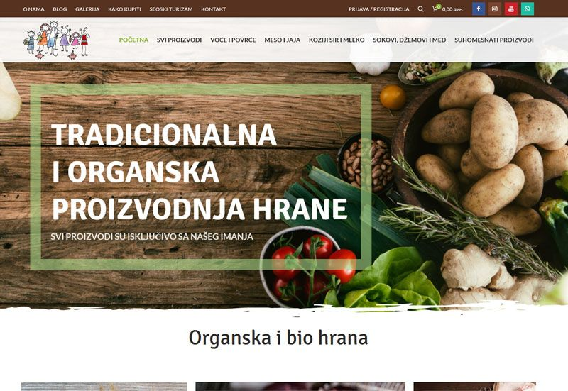 proizvodnja i prodaja organske hrane