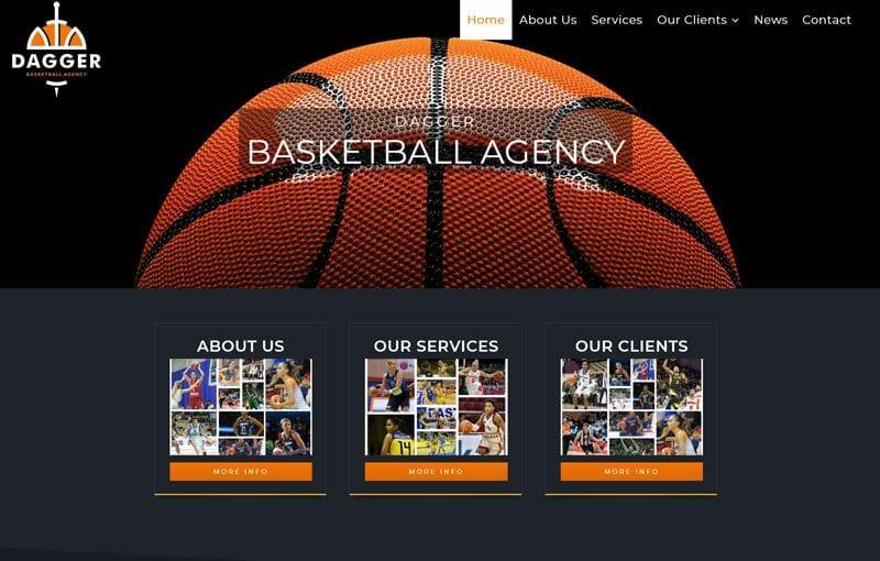 izrada sajta za kosarkasku agenciju