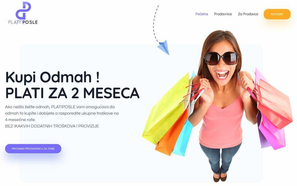 izrada sajta za plati posle portal