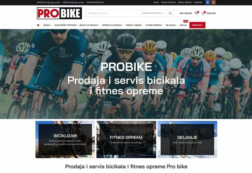 izrada online prodavnice za prodaju bicikala