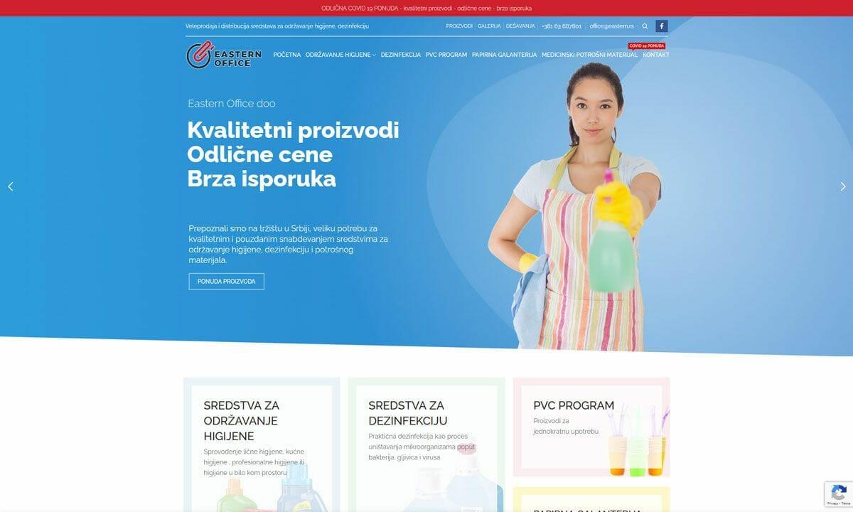izrada sajta za prodaju hemijskih preparata