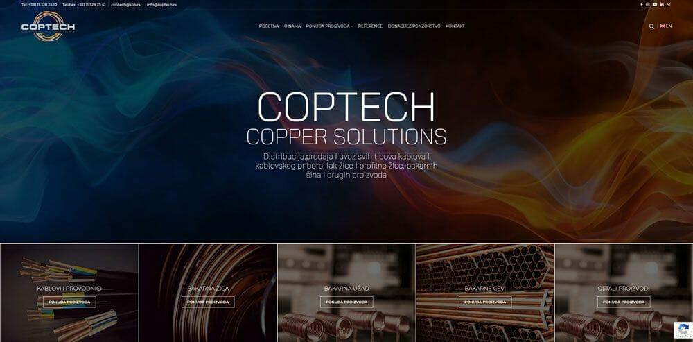 izrada sajta za coptech