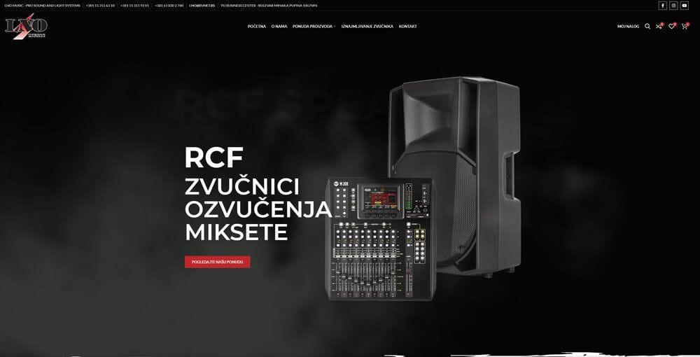 izrada sajta za prodaju zvucnika i opreme